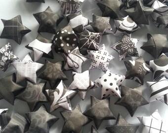 60 Origami Stars - Black & White mix