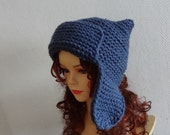 Knit Hat Womens Hat  earflaps Hat  Beanie Chunky Knit Winter Accessories mens beanie many colors
