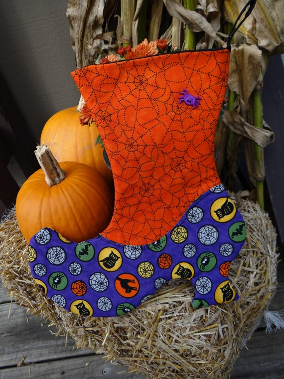 Witch stocking 8 wiccan pagan handmade home decor by vtwiccan for Pagan decorations for the home