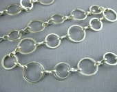 Chain by Foot - Silver Plated 10mm Large Round Link Chain