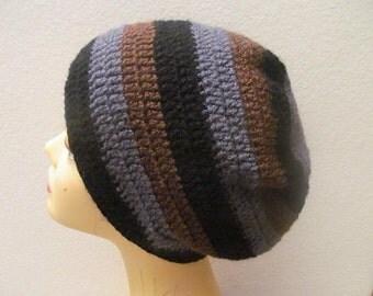 Crochet Men Beanie Hat, Usa Seller