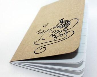Knitter's Notebook Helper - Hedgehog Yarn Lover - Kitchener Stitch