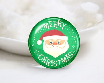 10mm 12mm 14mm 16mm 18mm 20mm 25mm 30mm Handmade Round Photo Glass Cabs Cover-Christmas (P2114)