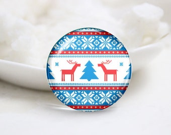 10mm 12mm 14mm 16mm 18mm 20mm 25mm 30mm Handmade Round Photo Glass Cabs Cover-Christmas (P2130)