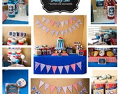 Printable Airplane Chalk Style Baby Shower PARTY PACKAGE--I design, You Print