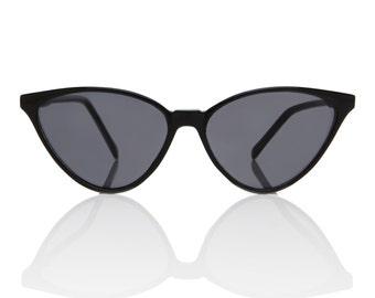 Nicole Black Cat Eye Sunglasses X American Deadstock