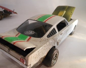 Scale Model, Rusted Wreck, Mustang Car, Classicwrecks,Toy Car