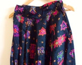 Vintage 80s Tribal Aztec Cropped Palazzo Pants Size 8