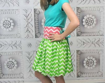 Daphne's Bubble Skirt PDF Pattern sizes 7/8 to 15/16