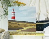 Lighthouse Card - Blank, British Seaside