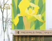 Yellow Bearded Iris Card - Spring, Easter card