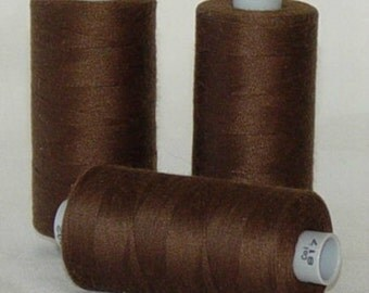 GUTERMANN Mara 100 Polyester Thread ONE (1) Spool 1,094yd BROWN 817