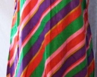 Vintage Striped 1960s Cotton A-Line Dress