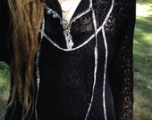Black hippie blouse/shirt
