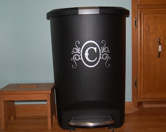 Monogram/Personalized Decal for Trash Can (Decal ONLY)