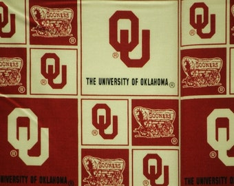 NCAA University of Oklahoma Sooners 100% Cotton Fabric by the yard