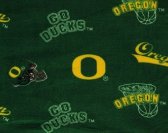 NCAA University of Oregon Ducks Fleece V1 Fabric by the Yard
