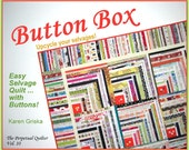 Button Box Selvage Quilt Pattern, Quilt Pattern, Upcycle, Recycle, Log Cabin Pattern, qtm