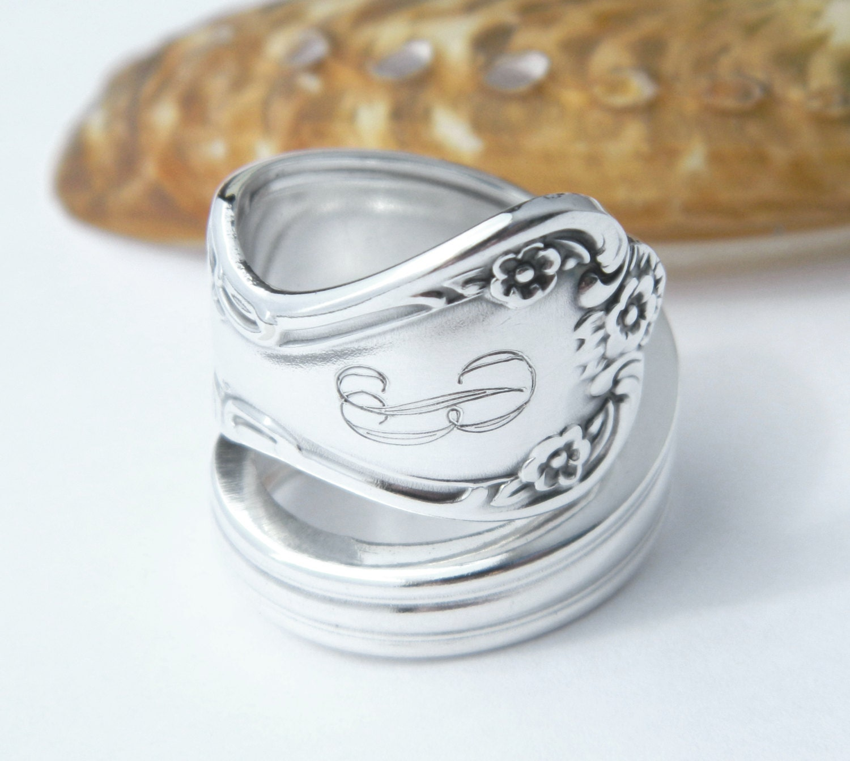 personalized silver spoon ring daybreak aka
