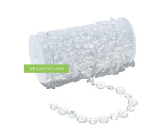Clear Bubble Beads Roll Garland for Wedding Curtain Centerpiece Decorations and Party Decor 60 feet