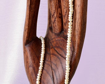 """14"""" Strand 3 x 4 mm FRESHWATER PEARL Beads Natural Organic Rondelle """"Potato"""" Beads - approx 120 small pearl beads"""