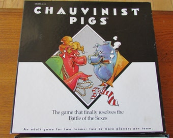 Chauvinist Pigs 1991 Board Game