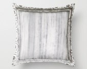 Black, White, Gray Cararra Marble Throw Pillow Cover - Venice - Italian - Grey - Italy
