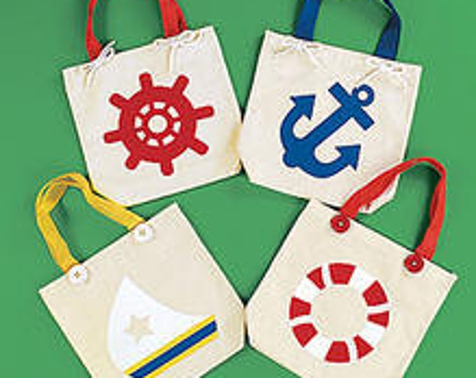 Nautical Canvas Bag with assorted Designs