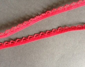 5yds - Red Picot Elastic