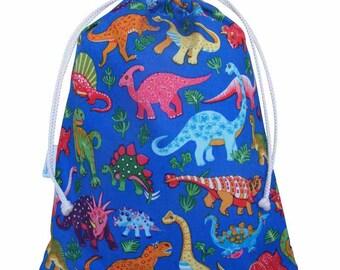 Kids Wash Bag, Toiletry Bag, Drawstring Bag, Dinosaur
