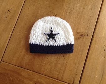 Newborn All Star Dallas Cowboy Inspired Beanie - Made to Order