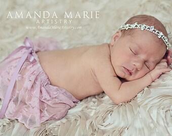 Newborn Photo Prop Newborn Tutu Newborn Skirt Lace Skirt Ruffle Skirt Bloomers Baby Photos Vintage Lace Skirt Shabby Chic Prop Baby Skirt
