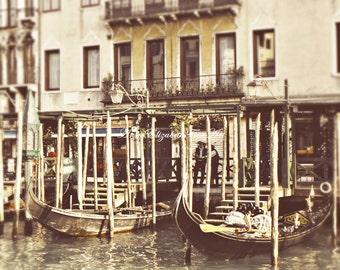 Italy Photograpy,Venice Print,Lemon Yellow,Grand Canal,Tuscan, Kitchen Art,Gondola,Wine Theme, Romantic, Earthy,Color, Italian,Vintage,Faded