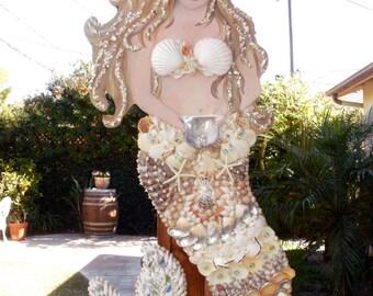 Handmade Mermaid Wall Art / Coastal or Beach Decor