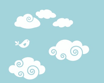 Whimsy Clouds Wall Decal Add-On Package | Two Package Options