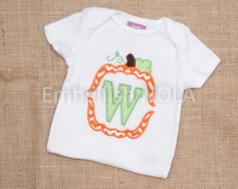 Pumpkin Letter Shirt or Bodysuit
