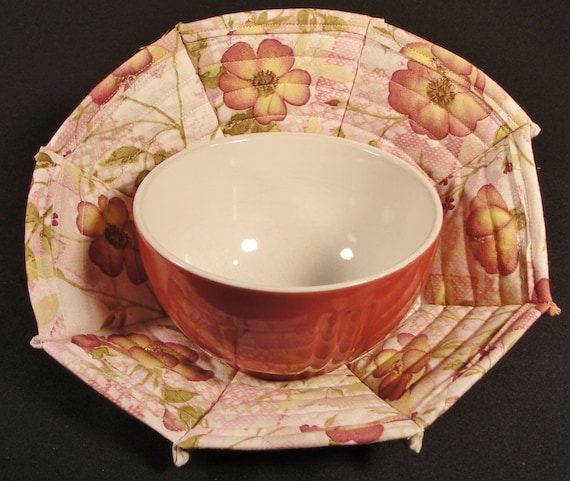 Bowl cozy souper bowl quilted bowl cozy for microwave pot holder
