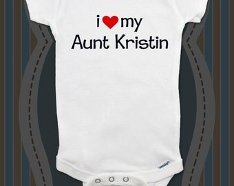 i love my Aunt or Uncle custom baby onesie shirt - baby gift under 20 - All sales final for custom items