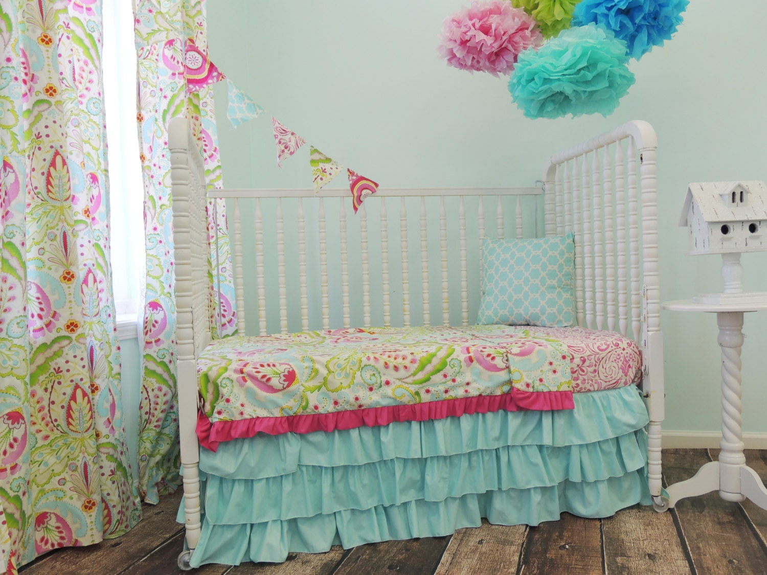 Pink And Green Bedroom Similiar Etsy Pink And Green Bedroom Keywords