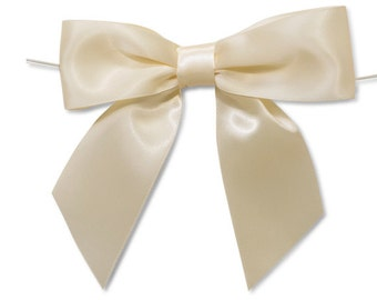 SALE 11 IVORY Large Satin Bows - Ready for use