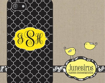 Personalized Iphone 6/6+, 5S/5 and 4/4S Cell Phone Case - Black Quatrafoil