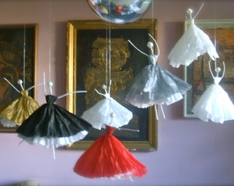 Home modern decor, Ballerina, ballet, music, dance,  Girl's room, Room Ballet Hanging Art Doll,Handmade, Wall or window decor, Ready to Hang