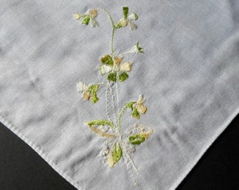 Vintage Handkerchief, Embroidered Hankie, Handkerchief, Floral, Embroidered Hankies, Handkerchiefs, Hankerchief, Ladies Hankies