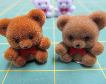 cute little fuzzy bears flocked bears, buy more and save