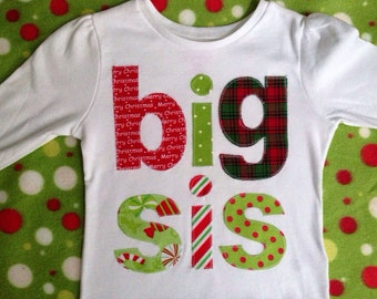 Holiday Big Sister Brother Shirt