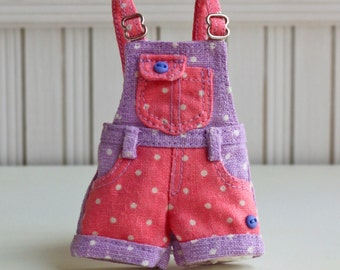 PO - Anniedollz Blythe Outfits Short Pants Overalls - French Lavender