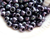 TOHO Seed beads, size 6/0, Metallic Amethyst Gun Metal, N 90, purple, round, glass - 10g - S287