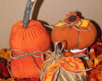 Prim Pumpkins Set 3.. Country Prim..Pumpkin Collector..Fall Decor..Prim Home Decor..Centerpiece..Thanksgiving..Country Up Cycled Pumpkins
