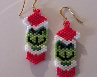 Grinch earrings