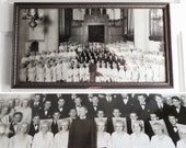 wide vintage photo unusual vintage choir photo 19 inches wide 1930s